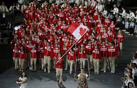 Team Canada at opening ceremonies-London 2012