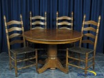 DymonMine Oak Dining Room Set with 4 chairs