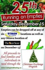 Dymon helps out Running on EmptiesCampaign