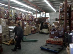 The Ottawa Food Bank warehouse