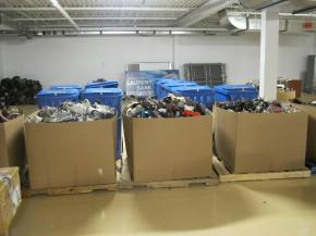 Shoes for charity in Ottawa