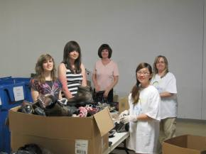 Shoe sorting for a good cause
