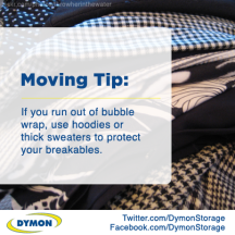 Moving and storage tips